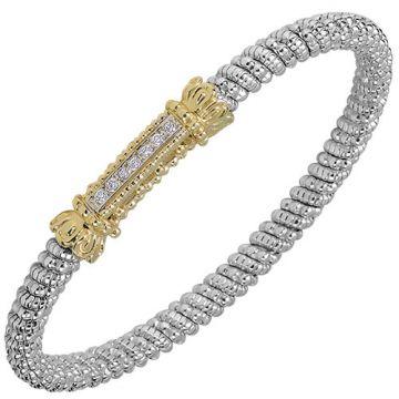 Alwand Vahan 4mm 14k Gold & Sterling Silver Diamond Bracelet