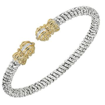 Alwand Vahan 4mm 14k Gold & Sterling Silver Diamond Bracelet