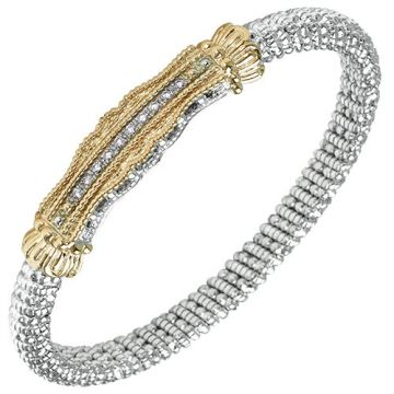 Alwand Vahan 6mm 14k Gold & Sterling Silver Diamond Bracelet