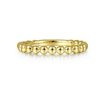 14K YELLOW GOLD FASHION STACKABLE BAND