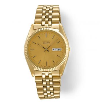 SEIKO QUARTZ YELLOW GOLD PLATED WATCH