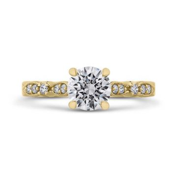 Carizza 14k Yellow Gold Vintage Diamond Engagement Ring