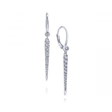 Gabriel & Co. 14k White Gold Kaslique Diamond Drop Earrings