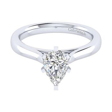 Gabriel & Co 14K White Gold Michelle Solitaire Diamond Engagement Ring