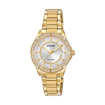 Citizen POV Ladies Yellow Stainless Steel Watch