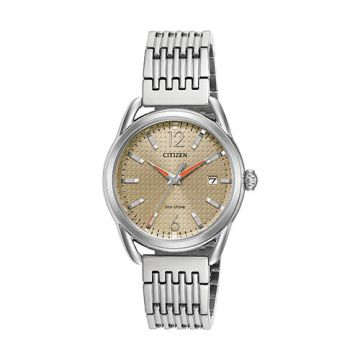 Citizen LTR Ladies White Stainless Steel Watch