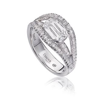 Christopher Design L'Amour Collection Diamond Engagement Ring