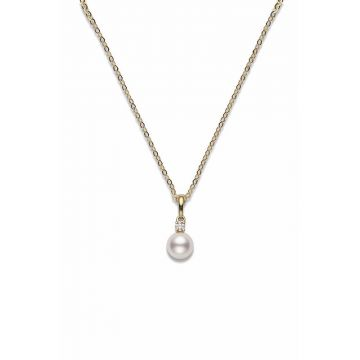 Mikimoto 18k Yellow Gold Basic Jewelry Pearl Pendants