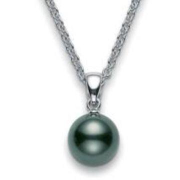 MIKIMOTO 18k White Gold Pearl Pendant