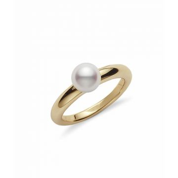 Mikimoto 18k Yellow Gold Classic Elegance Pearl Ring
