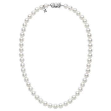MIKIMOTO 18k White Gold Akoya Pearl Princess Length Pendant