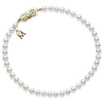 MIKIMOTO 18k White Gold Akoya Pearl Bracelet