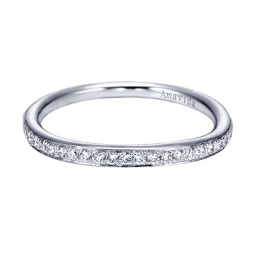 Amavida 18k White Gold Contemporary Wedding Band