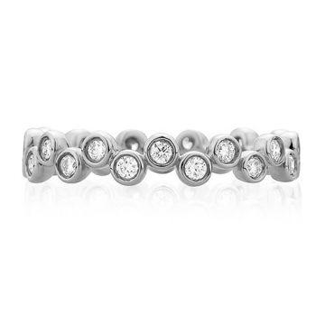 A. Jaffe 18k White Gold Modern Bubble Diamond Wedding Band