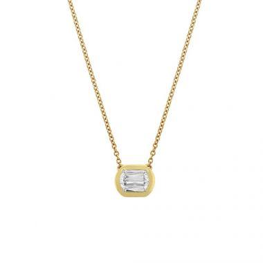 Christopher Designs L'Amour Crisscut Diamond Necklace