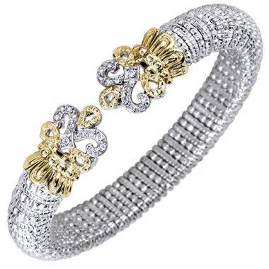 Alwand Vahan 8mm 14k Gold & Sterling Silver Diamond Bracelet