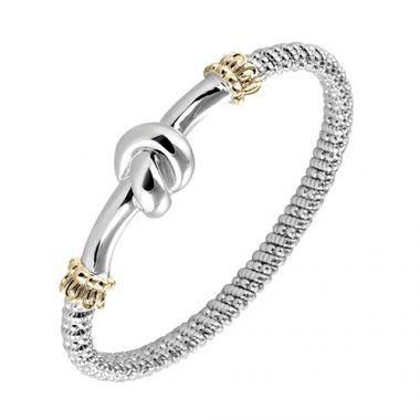 Alwand Vahan 4mm 14k Gold & Sterling Silver Bracelet