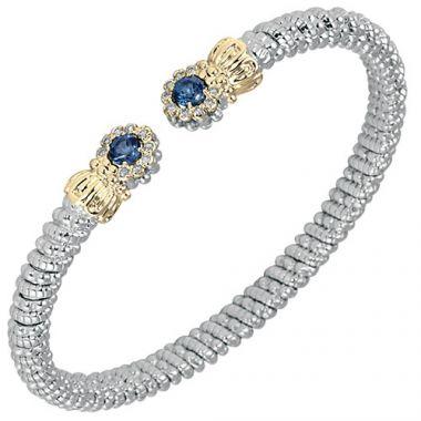 Alwand Vahan 4mm 14k Gold & Sterling Silver Diamond And London Blue Topaz  Bracelet