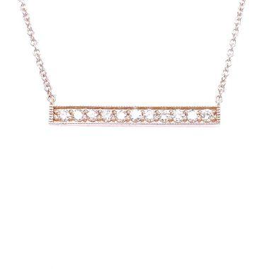 14KWG 11 DIAMOND BAR NECKLACE