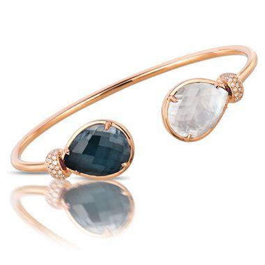 Doves 14K Rose Gold Cuff Style Bangle Bracelet