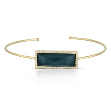 Doves 18k Yellow Gold Midnight Ocean Topaz Bracelet