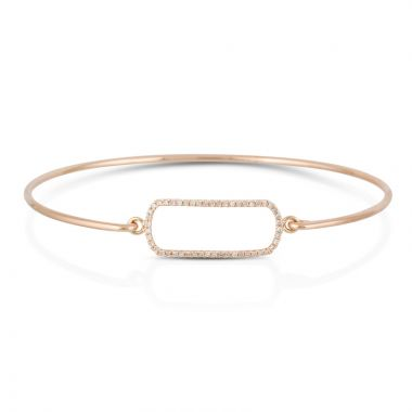 Doves 14k Rose Gold Diamond Fashion Bracelet