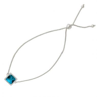 Doves 14k White Gold London Blue Topaz Bracelet