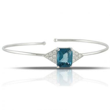 Doves 18k White Gold London Blue Topaz Bracelet