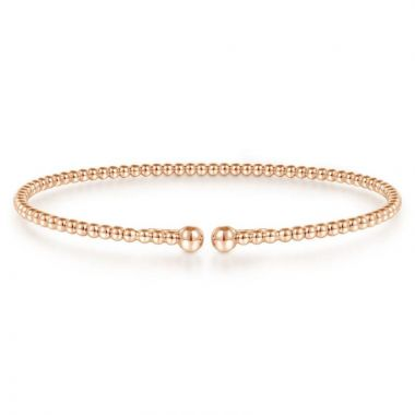 Gabriel & Co. 14k Rose Gold Bujukan Bangle Bracelet