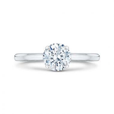 Carizza 14k White Gold Solitaire Diamond Engagement Ring
