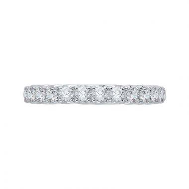 Carizza 14k White Gold Diamond Wedding Band