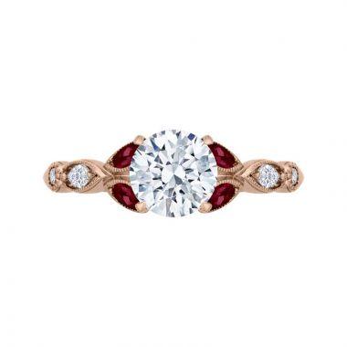 Carizza 14k Rose Gold Diamond Engagement Ring