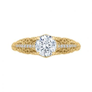 Carizza 14k Yellow Gold Diamond Engagement Ring