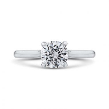 Carizza 14k White Gold Straight Diamond Engagement Ring