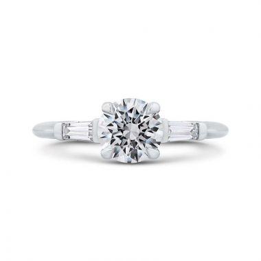 Carizza 14k White Gold Straight Diamond Engagement Ring