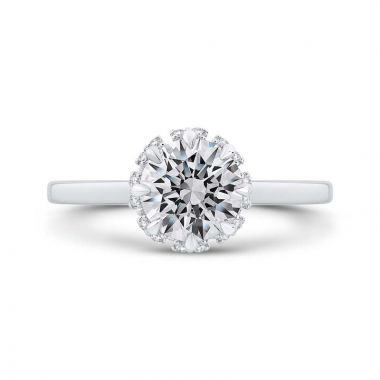 Carizza 14k White Gold Diamond Engagement Ring