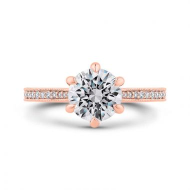 Carizza 14k Rose Gold Diamond Engagement Ring