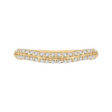 Carizza 14k Yellow Gold Diamond Wedding Band