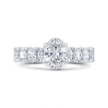 Carizza 14k White Gold Diamond Engagement Ring