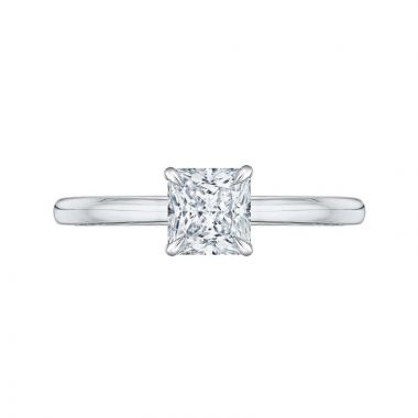 Carizza Two Tone 14k Gold Solitaire Diamond Engagement Ring