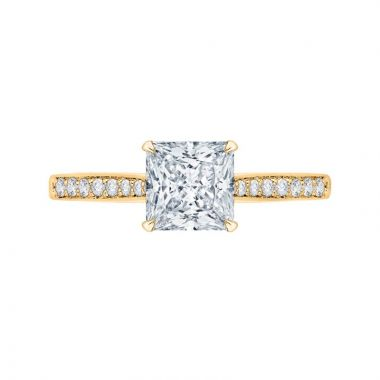 Carizza 14k Yellow Gold Solitaire Diamond Engagement Ring