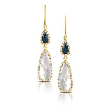 Doves 14K Yellow Gold Diamond & Gemstone Earrings