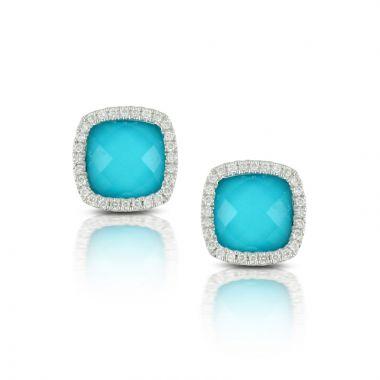 Doves 18k Yellow Gold St. Barths Blue Topaz Earrings