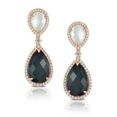 Doves 18K Rose Gold Drop Earrings