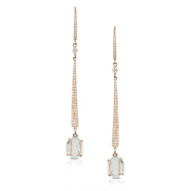 Doves 14k Rose Gold Lucente Topaz Earrings