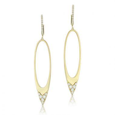 Doves 18k Yellow Gold Diamond Fashion Earrings