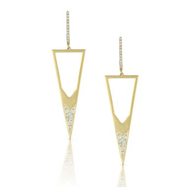 Doves 18k Yellow Gold Diamond Fashion Earrings