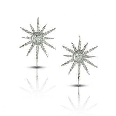 Doves 18k White Gold Diamond Fashion Earrings