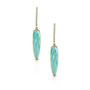 Doves 18k Yellow Gold Amazon Breeze Quartz Earrings