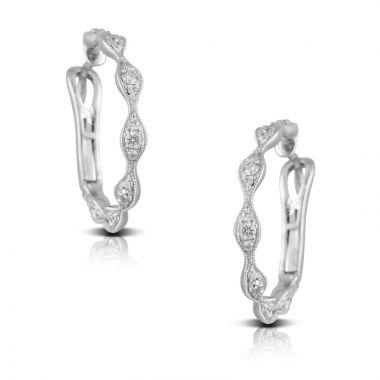 Doves 18k White Gold Diamond Fashion Earrings